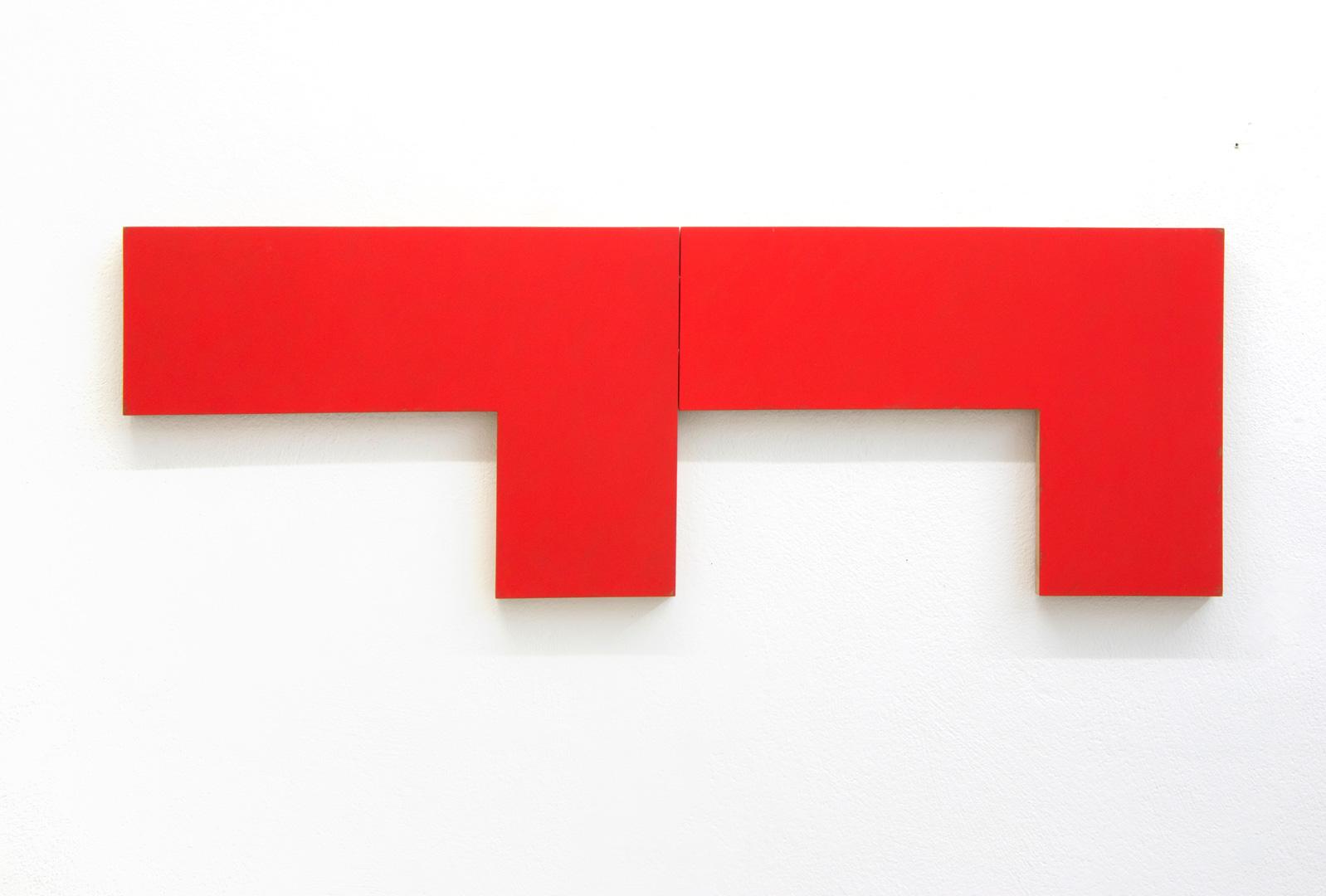 alfons lachauer, o.t. 1991, oil/wood, 40 x 90 cm
