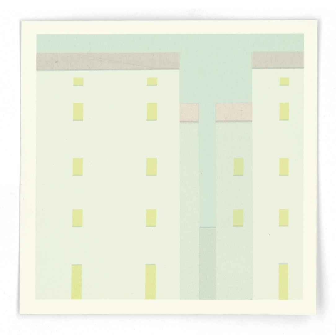 """antonio calderara, from portfolio """"58/60"""", 1978, serigraphy, 14,9 x 14,9 cm"""