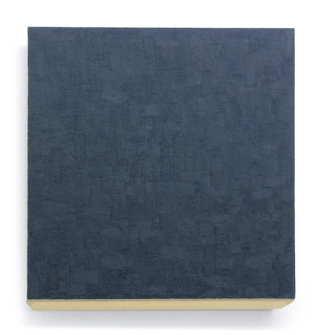 phil sims, mg 9110 blue, 1991, 57 x 57 cm, oil/wood, 57 x 57 cm
